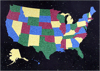 """Map Of The United States (VCT) 5'-0"""" x 7'-0"""""""